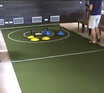 mobilní kobercový Curling