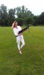 Airsoftová střelnice na golfovém turnaji, skvělá zábava pro doprovod i hráče